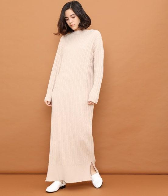 サロン アダム エ ロペ ウィメン   【TIME SALE】ミニケーブルロングニットドレス - 1