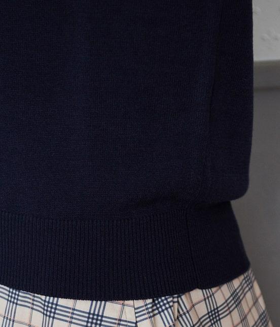 ロペピクニック | 【パチパチしない、ポカポカ素材+洗濯機OK】モックネック袖ボタンプルオーバー - 5