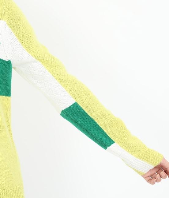 ジュン アンド ロペ | カラーブロックロゴインターシャPO - 6