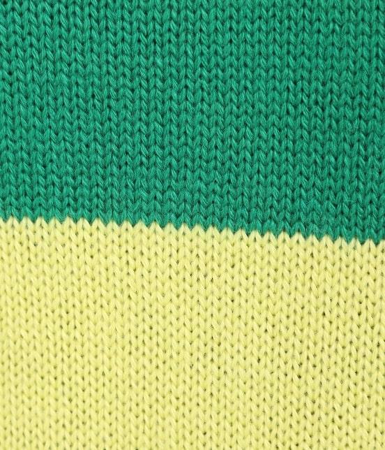 ジュン アンド ロペ | カラーブロックロゴインターシャPO - 9