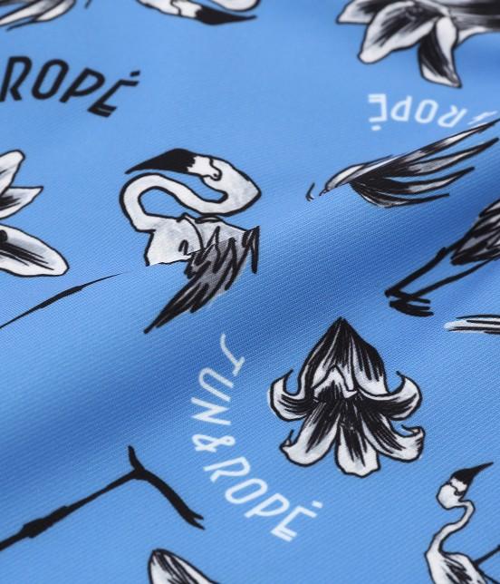 ジュン アンド ロペ | 【TIME SALE】フラミンゴ柄プリントスカート - 8