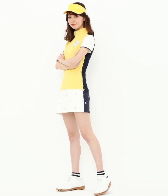 ジュン アンド ロペ | 【TIME SALE】ワッペン柄プリントカラーブロックスカート - 10