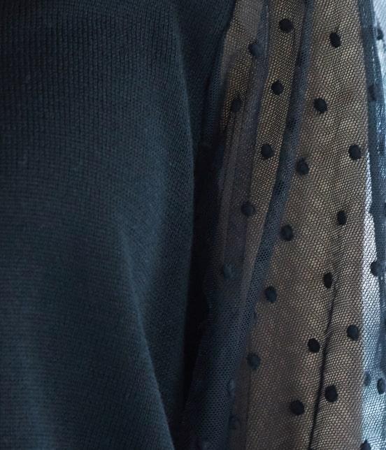 ビス | 【泉里香さん着用】【前後2WAY】袖ドットチュールプルオーバー - 6