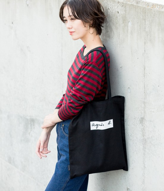 アダム エ ロペ ファム | 【agnes b. pour ADAM ET ROPE'】TOTE BAG WITH BOX LOGO - 14