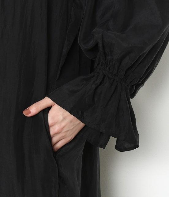 アダム エ ロペ ファム | 【ロペシスターズコレクション 辻直子監修】【ne Quittez pas】 SILK BLACK DRESS - 8