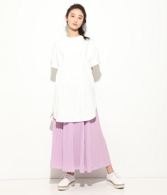 ビス   【WEB限定】半袖スリット入りTシャツ - 14