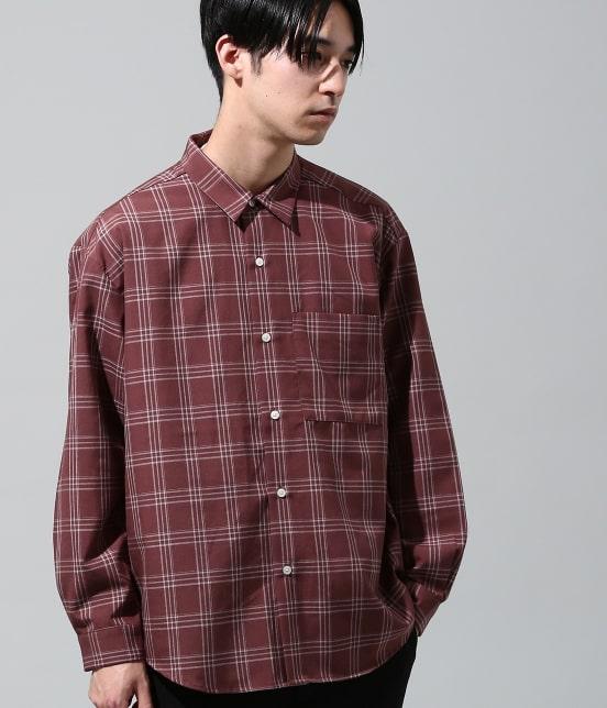 ジュンレッド | チェックリラックスシャツ - 1