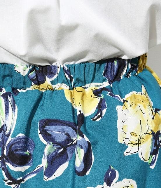 ビス   アートプリントギャザースカート - 3