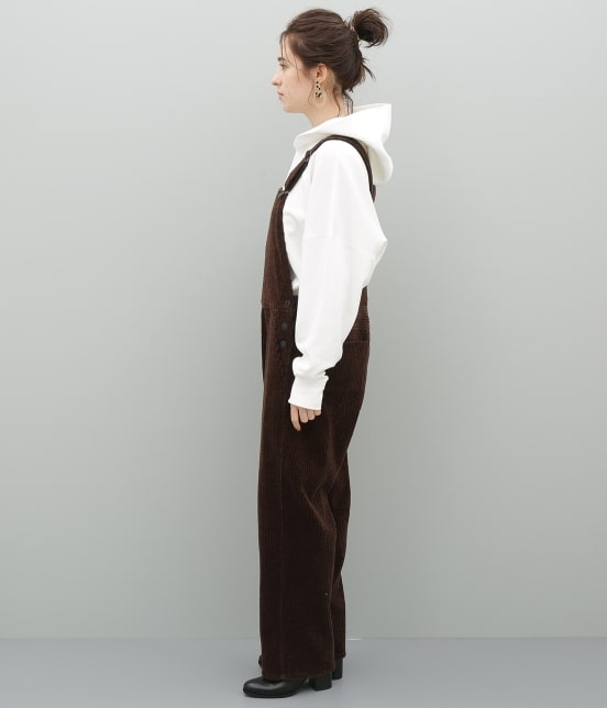 アダム エ ロペ ファム | 【福田織物×ADAM ET ROPE'】コーデュロイオーバーオール - 5