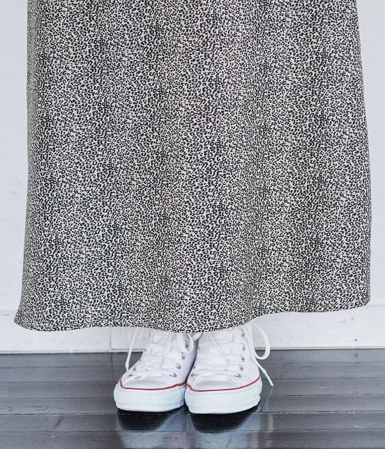 ロペピクニック   【WEB限定】レオパード柄ロングスカート - 5