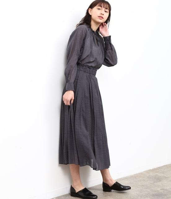 サロン アダム エ ロペ ウィメン   【MAISON DU BON for SALON】CHOCOLATEタックギャザースカート - 12