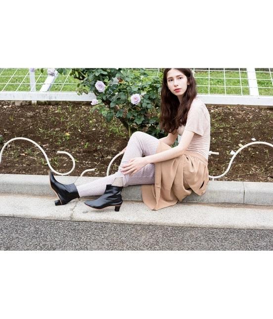 ロペ エターナル | 【TIME SALE】ポリエステル クレープ ジョーゼット ぺプラムスカート - 3