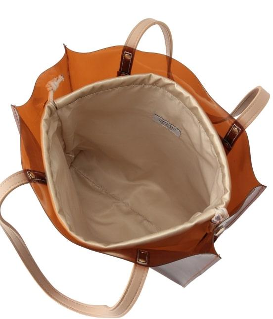 ロペピクニックパサージュ   メタリック巾着付ビニールトートバッグ - 5