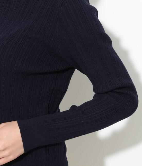 ビス | 【ドラマ着用】変形リブスカラップ衿ニットプルオーバー - 4