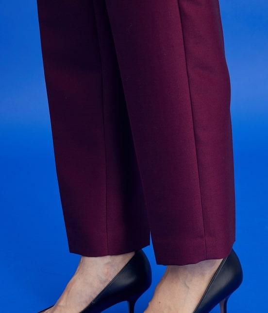 ロペ | 【ロペシスターズコレクション 辻直子監修】シルクウールセンタープレスパンツ - 8