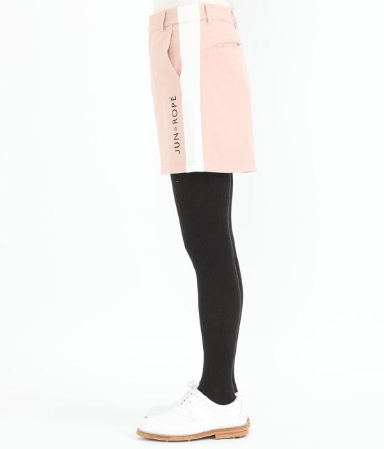 ジュン アンド ロペ   【保温】両面起毛ロゴ入り配色スカート - 2