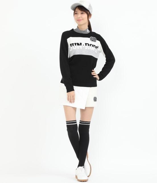 ジュン アンド ロペ | カラーブロックロゴインターシャPO - 11