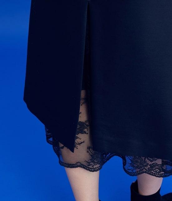 ロペ | 【ロペシスターズコレクション 辻直子監修】トラペーズレース重ねスカート - 7