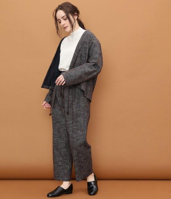 サロン アダム エ ロペ ウィメン | 【宮田織物 for SALON】スラブドロコードパンツ - 16