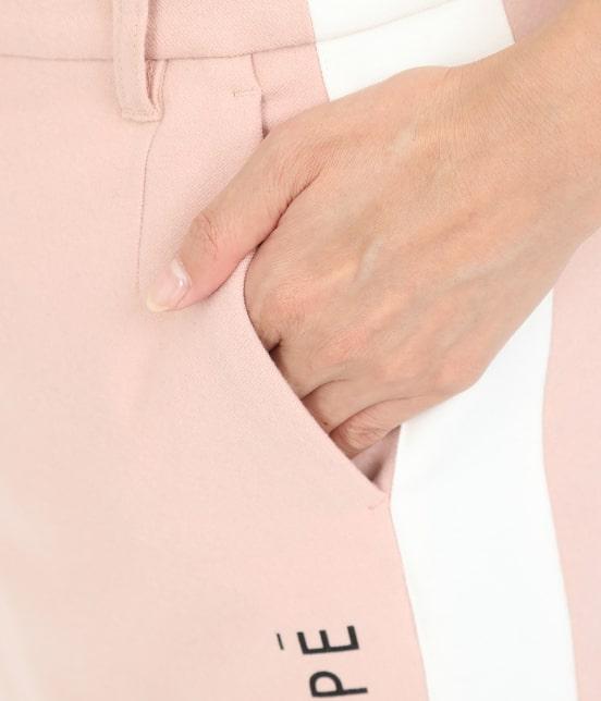 ジュン アンド ロペ   【保温】両面起毛ロゴ入り配色スカート - 7