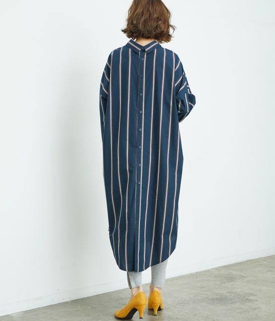 ロペピクニック | 【2WAY】バックオープンシャツワンピース - 2