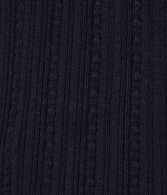 ビス | 【ドラマ着用】変形リブスカラップ衿ニットプルオーバー - 6