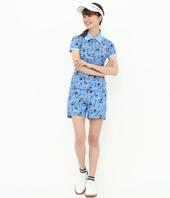 ジュン アンド ロペ | 【TIME SALE】【UV】【遮熱クーリング】フラミンゴ柄プリントポロシャツ - 11