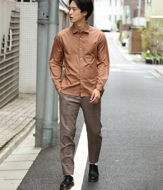 ジュンレッド | 【mens FUDGE  10月号掲載商品】ブロードセミワイドカラーシャツ - 8