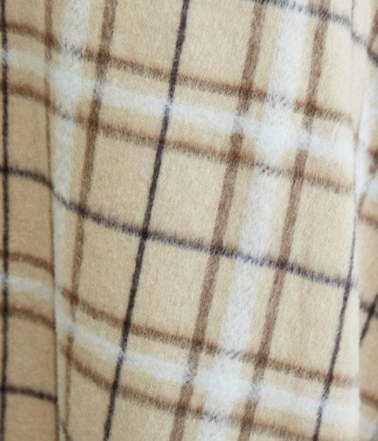 ロペピクニック | ウール混立体シャギーフレアスカート - 5
