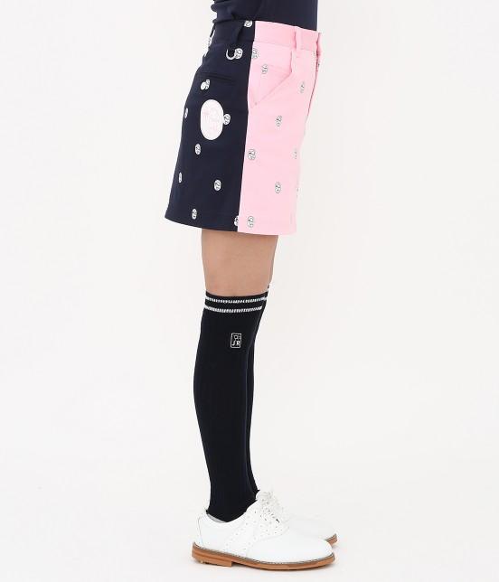 ジュン アンド ロペ | 【TIME SALE】ワッペン柄プリントカラーブロックスカート - 2