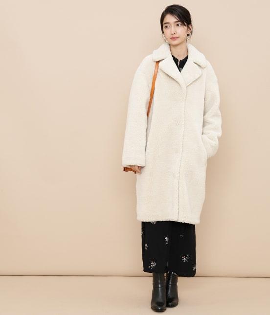 アダム エ ロペ ファム | 【STAND】Camille Teddy Faux Fur - 5