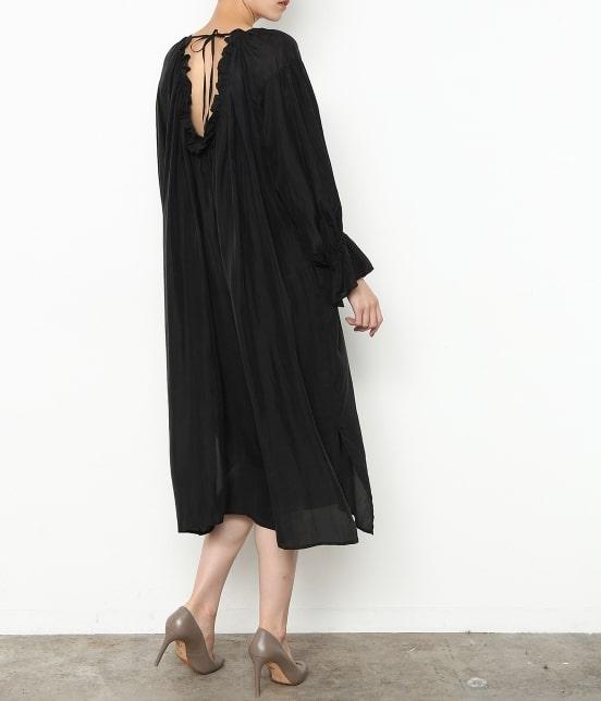 アダム エ ロペ ファム | 【ロペシスターズコレクション 辻直子監修】【ne Quittez pas】 SILK BLACK DRESS - 12