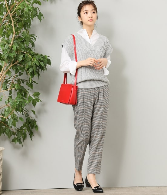 ビス | 【予約】ビッグケーブルニットベスト - 10