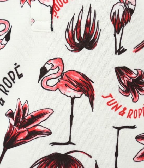 ジュン アンド ロペ | 【TIME SALE】【UV】【遮熱クーリング】フラミンゴ柄プリントポロシャツ - 9