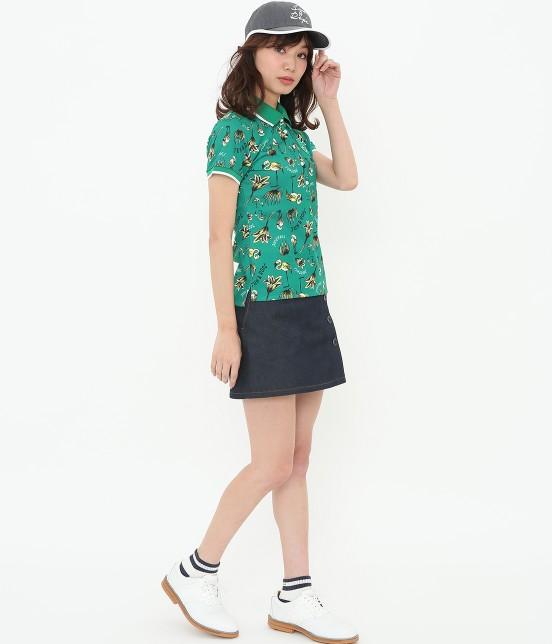 ジュン アンド ロペ | 【TIME SALE】【UV】【遮熱クーリング】フラミンゴ柄プリントポロシャツ - 13
