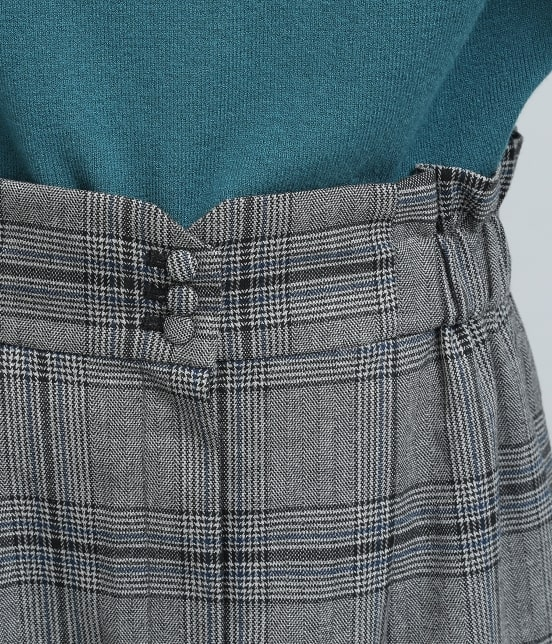 ビス | ヘリンボーンチェックタイトスカート - 4