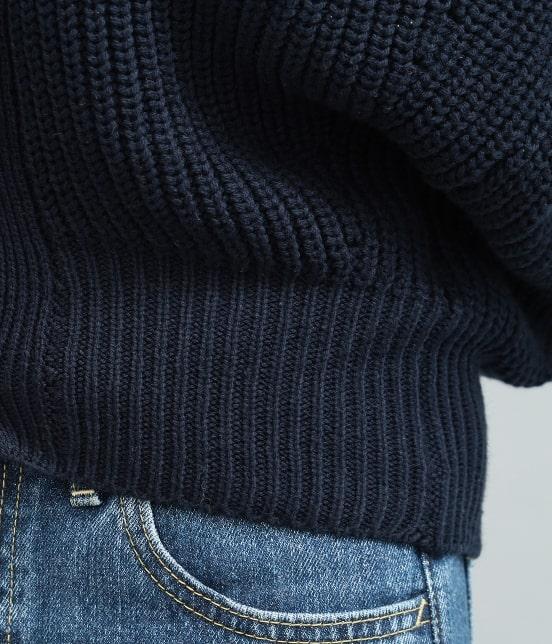 ビス | 畦編みコクーンショートカーディガン - 5