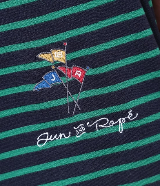 ジュン アンド ロペ | ポンチボーダーBOXプリーツスカート - 7