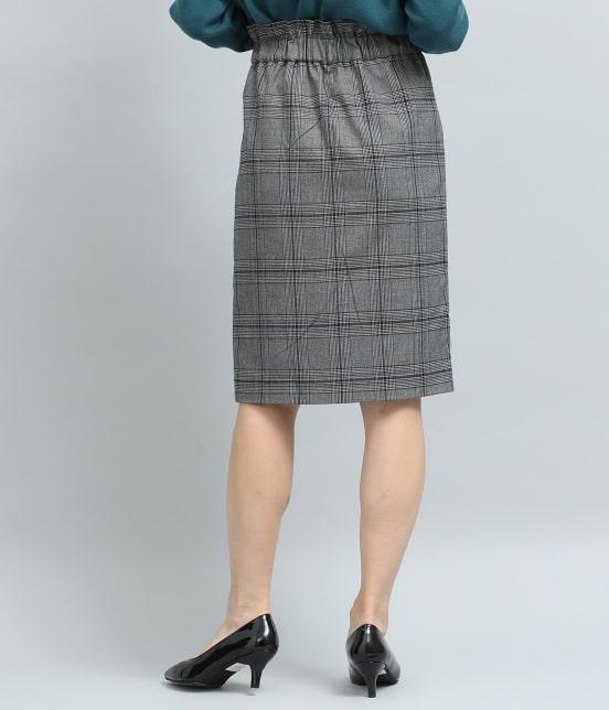 ビス | ヘリンボーンチェックタイトスカート - 2