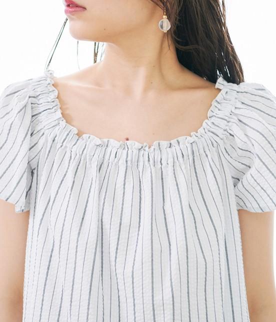 ロペピクニック | 【50TH SPECIAL COLLECTION】【2WAY】裾刺繍オフショルダーブラウス - 3