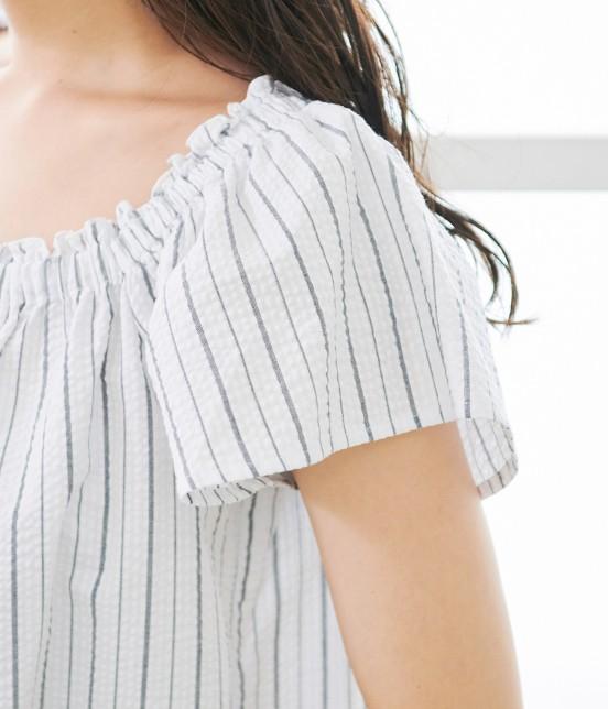 ロペピクニック | 【50TH SPECIAL COLLECTION】【2WAY】裾刺繍オフショルダーブラウス - 4