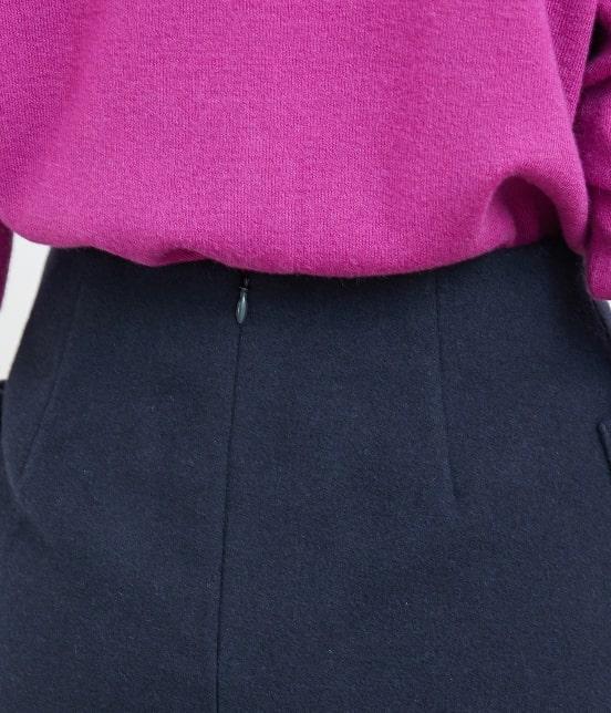 ロペピクニック | プレミアムウールメルトン台形スカート - 4