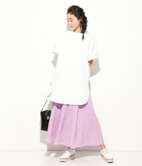 ビス   【WEB限定】半袖スリット入りTシャツ - 13