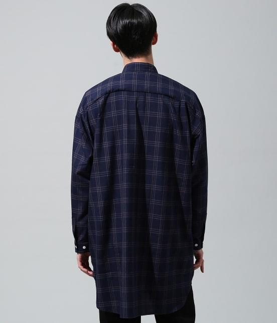 ジュンレッド | 【smart 10月号掲載商品】チェックバンドカラーマキシシャツ - 3