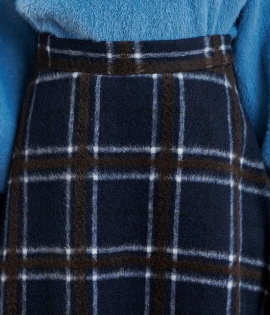 ロペピクニック   ウール混立体シャギーフレアスカート - 3