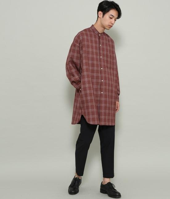 ジュンレッド | 【smart 10月号掲載商品】チェックバンドカラーマキシシャツ - 12