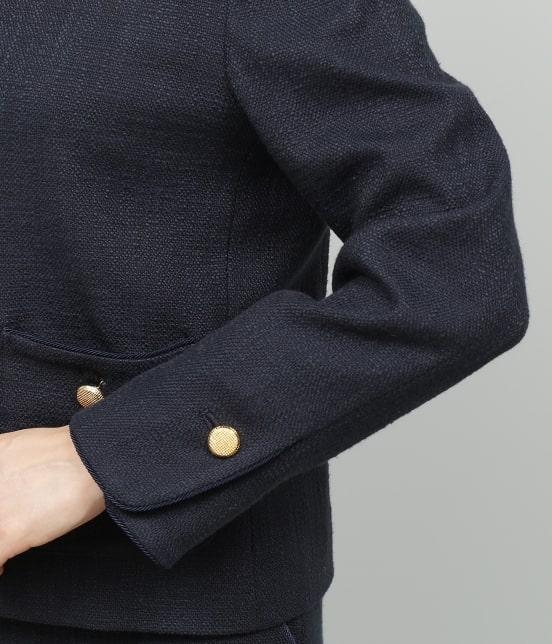 ロペ | 【セットアップ対応】【SS/S/Lサイズあり】スラブツィードノーカラーポケットジャケット - 8