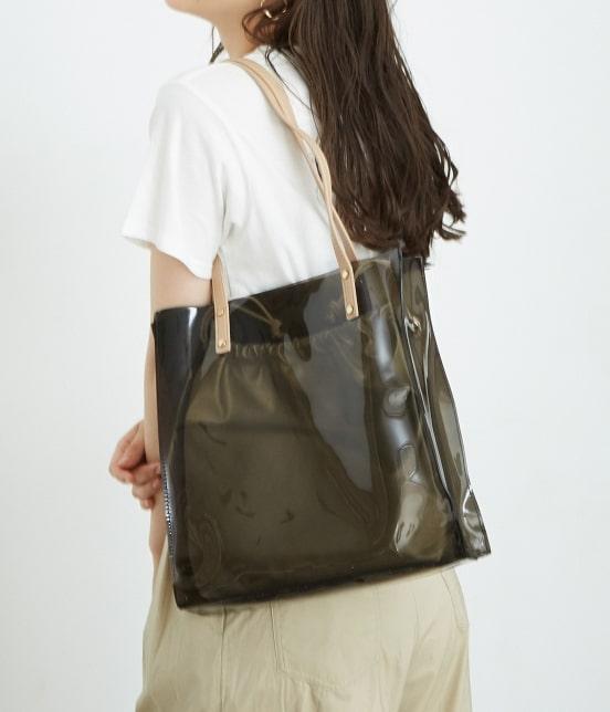 ロペピクニックパサージュ   メタリック巾着付ビニールトートバッグ - 10