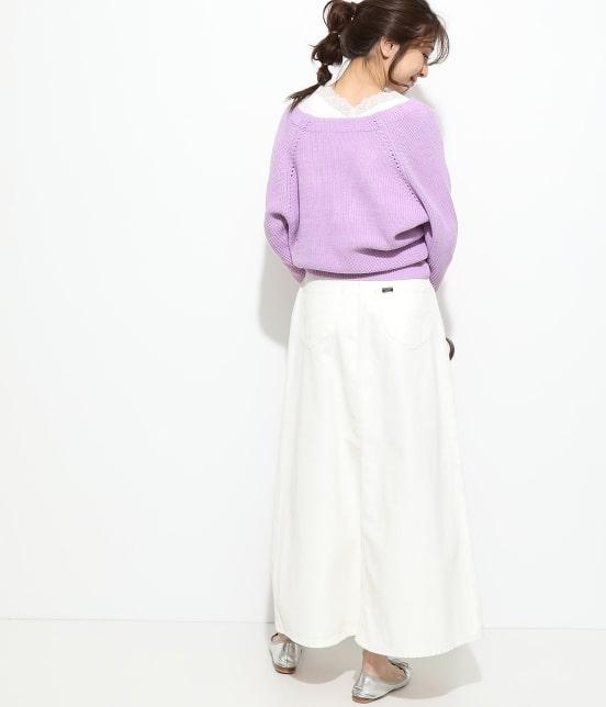 ビス   【一部店舗先行入荷】畦柄変形ニットカーディガン - 8