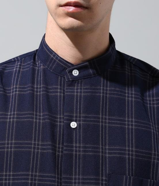 ジュンレッド | 【smart 10月号掲載商品】チェックバンドカラーマキシシャツ - 4